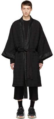 D.gnak By Kang.d Black Zig-Zag Kimono Coat