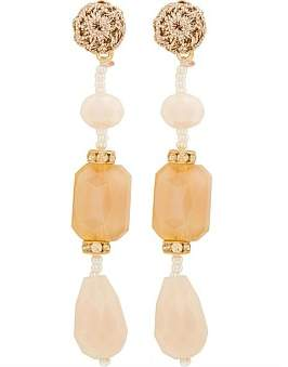 The Two Mrs Grenvilles Long Beaded Drop Earring