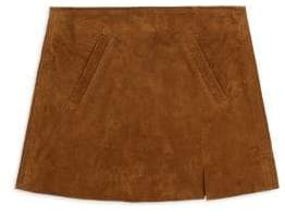 Blank NYC Girl's Spice Suede Mini Skirt