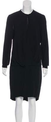 Brunello Cucinelli Silk Long Sleeve Dress