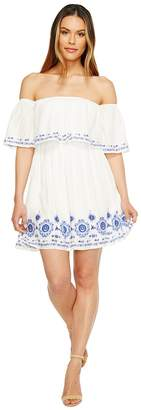 Brigitte Bailey Halee Off the Shoulder Embroidered Dress Women's Dress