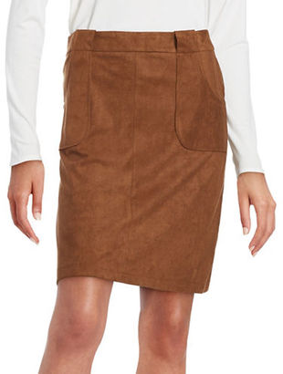 Bb Dakota Faux Suede A-Line Skirt $84 thestylecure.com
