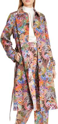 TOMMY X ZENDAYA Zodiac Print Cotton Trench Coat