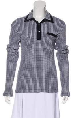 Armani Collezioni Collared Knit Sweater