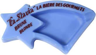 One Kings Lane Vintage French Bistro Milk Glass Ashtray - Rose Victoria