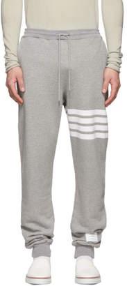 Thom Browne Grey 4-Bar Classic Lounge Pants
