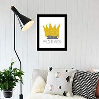 Camilla And Marc WALPLUS Com-CP054M Imperial Crown Art Canvas Printing with FR030 Black Photo Frame, Vinyl, Multi-Colour, 40 x 30 x 2 cm