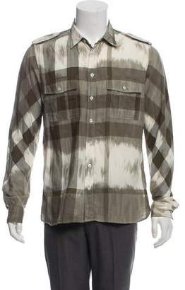 Burberry Exploded Check Button-Up Shirt w/ Tags