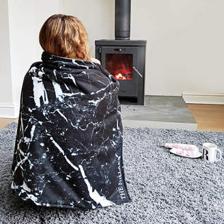 Rianna Phillips Black Marble Personalised Blanket Throw