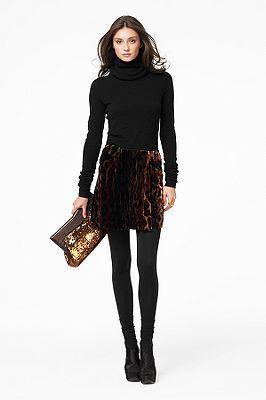 Mer Skirt in Golden Tiger