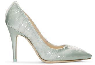 Off-White Blue Jimmy Choo Edition Annie Heels