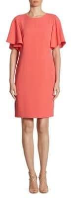 Shoshanna Mayberry Ruffle-Sleeve Dress