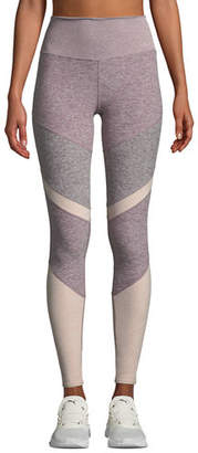 Alo Yoga Sheila High-Waist Mesh Panel Leggings