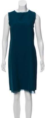 Maison Margiela Knee-Length Shift Dress Blue Knee-Length Shift Dress