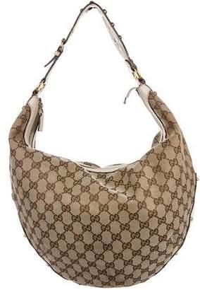 Gucci Studded GG Pelham Hobo