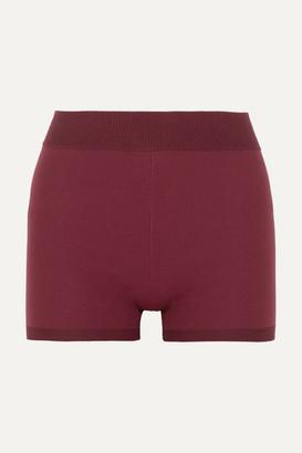 Nagnata - Technical Stretch-organic Cotton Shorts - Burgundy