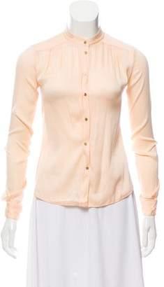 Diane von Furstenberg Silk Button Down Top
