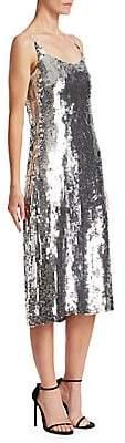 Oscar de la Renta Women's Sequin Cocktail Dress