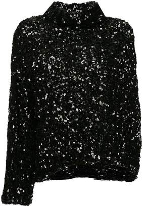 Ports 1961 sequinned single sleeve top