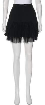 Marissa Webb Mesh-Accented Mini Skirt