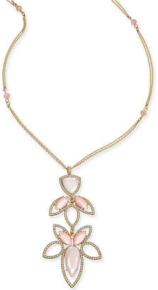 """INC International Concepts I.N.C. Gold-Tone Stone and Crystal Pendant Necklace, 28"""" + 3"""" extender, Created for Macy's"""
