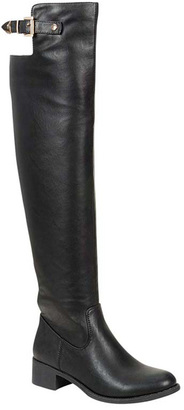 Black Cuff Strap Over-the-Knee Alto Boot $69.99 thestylecure.com