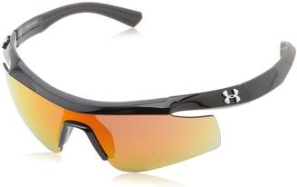 """Under Armour Dynamo """"Youth"""" Shiny Black with Charcoal Gray Frame, and Gray-Orange Multiflection Lens"""