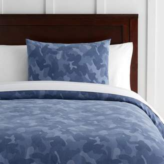 Pottery Barn Teen Distressed Camo Duvet Cover, Twin/Twin XL, Navy