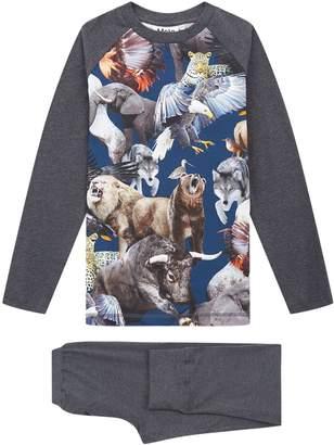 Molo National Animals Long Sleeve Pyjama Set