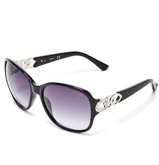Factory GUESS Women's Oversized Chain-Trim Sunglasses