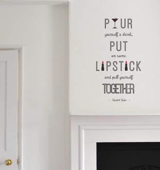 leonora hammond Liz Taylor Quote Wall Sticker