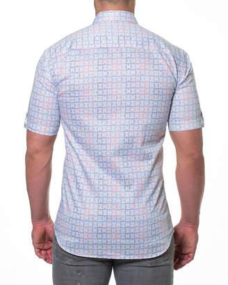 Maceoo Men's Shaped-Fit Fresh Jigsaw Short-Sleeve Sport Shirt