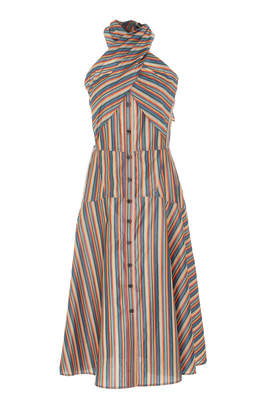 Tome Candy Stripe Halter Dress