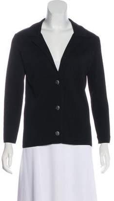 Chanel Knit Notch-Lapel Blazer