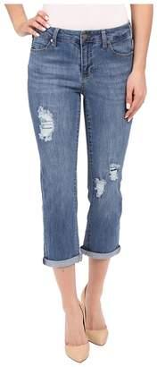 Liverpool Michelle Capris w/ Destruction in Melbourne Light Blue Women's Jeans