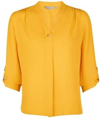 Dorothy Perkins Womens Petite Mango Roll Sleeve Shirt