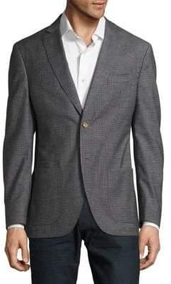 Checked Notch-Lapel Jacket