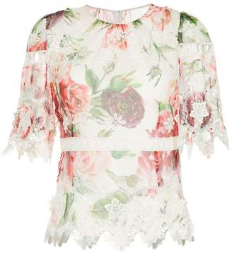Dolce & Gabbana peony print blouse