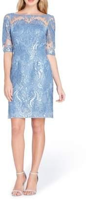 Tahari Sequin Sheath Dress