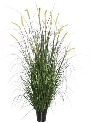 Highland Dunes Artificial Foliage Grass in Black Pot