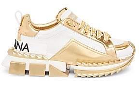 Dolce & Gabbana Dolce& Gabbana Dolce& Gabbana Women's Metallic Sneakers