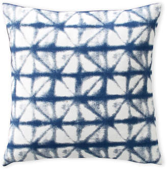 Sparrow & Wren Blue Shibori Diamond Pillow