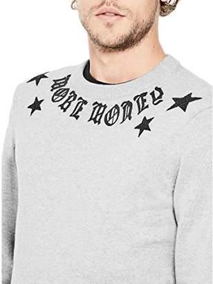 GUESS Men's Long Sleeve Caviar Bead Sweater