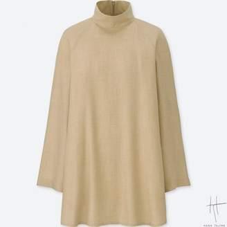 Uniqlo WOMEN HPJ Rayon Drape Long Sleeve T-shirtunic