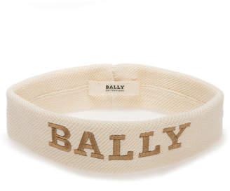 Bally Men's Logo-Embroidered Canvas Headband, White