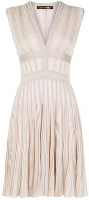 Roberto Cavalli Metallic Pleated Dress