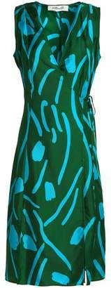 Diane von Furstenberg Printed Silk-Twill Wrap Dress