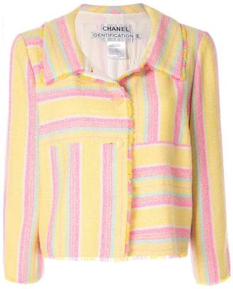 Chanel Pre-Owned patchwork stripe jacket