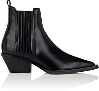 Helmut Lang Women's Leather Cowboy Ankle Boots