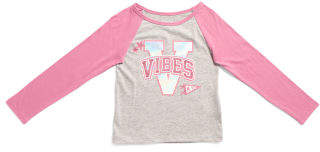 Girls Long Sleeve Raglan Top